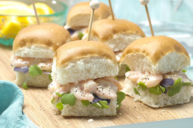 Shrimp Aioli Sliders