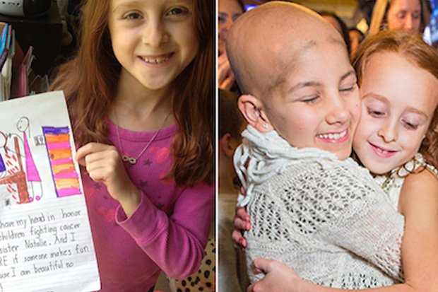 Girl Shaves Her Head So Her Little Sister Won't Be Alone In Cancer Battle