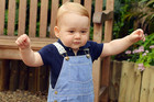 He Can Walk! Prince George Goes For A Royal Walkabout