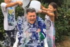 Michael Buble Does The Ice Challenge
