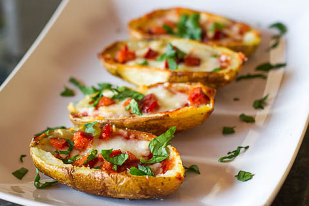 Pepperoni Pizza Potato Skins