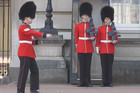 Buckingham Palace Guard Falls In Front Of Tourists