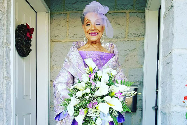 86 year old Grandmother gets married in a dress she designed herself