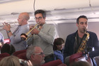 Orchestra perform live on Qantas flight