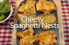 Cheesy Spaghetti Nests