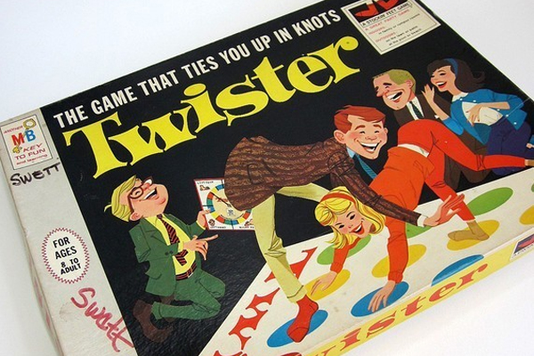 "1966: Twister. Fun Fact: Twister was originally named Pretzel and was criticized in the '60s for being ""sex in a box"" by competitors."