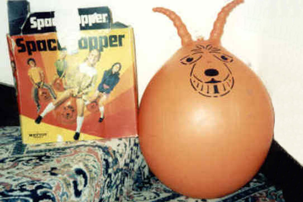 "1971: Fun Fact: ""Space Hoppers"" was a popular term in the UK, while in the US they were more commonly referred to as ""hippity hops"" or ""hop balls""."