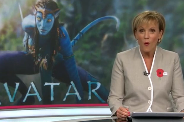Hilary Barry gets a shock while reading a news headline