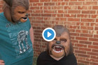 Chewbacca lady's kids get their own masks