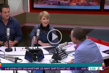 """Paul Henry accidentally calls new co-host Ingrid Hipkiss """"Hilary"""" on her first day"""