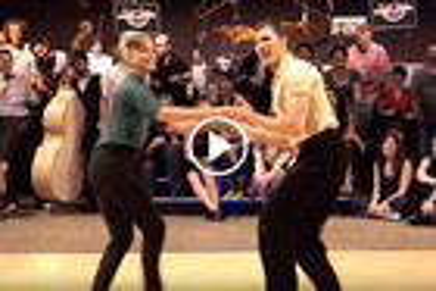 Dancer duo from Sweden perform mesmerising Boogie Woogie dance