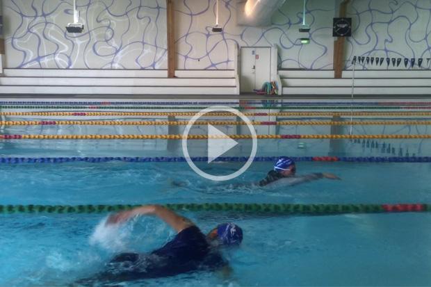 Robert & Jeanette Swim 100m