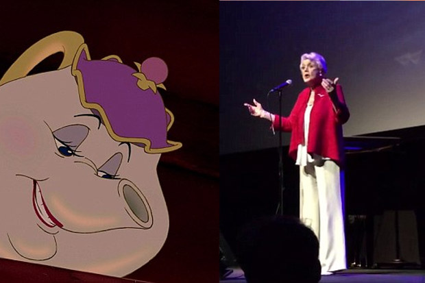 Veteran actress Angela Lansbury sings Beauty and the Beast after 25 years
