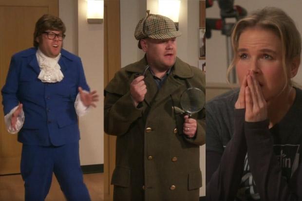 James Corden makes Renee Zellweger cringe with his hilarious audition