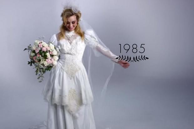 100 years of wedding dresses