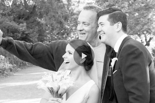 Tom Hanks photobombs New York couple's wedding shoot