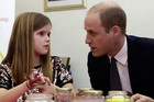 Prince William gives advice to a young girl who lost a parent