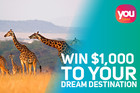 Win $1,000 to Your Dream Destination Thanks to You Travel
