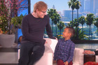 Young boy gets huge surprise when Ed Sheeran watches him perform