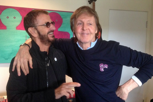 Paul McCartney and Ringo Starr get back in studio together