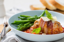 Chicken & Bacon Wraps with Mozzarella and Basil