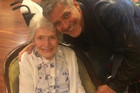 George Clooney visits fan for her 87th birthday