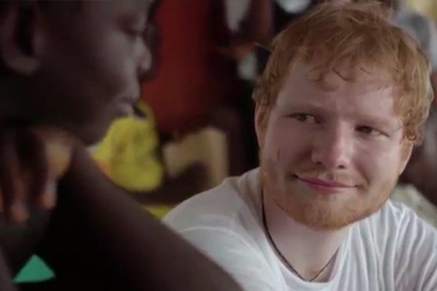 Ed Sheeran in tears after meeting a young girl who lost her dad to ebola