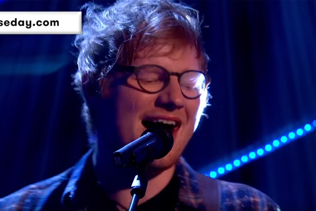 Ed Sheeran forgets the words to his own song while on live TV